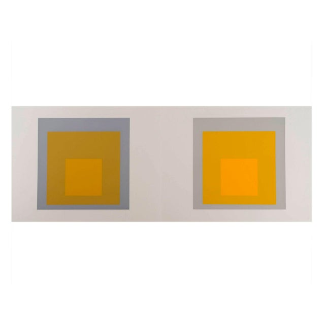 Josef Albers Homage to the Square Diptych Silkscreen For Sale In New York - Image 6 of 6
