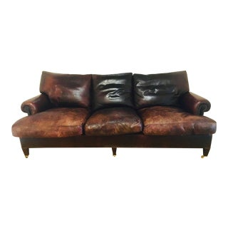 George Smith Leather Sofa For Sale