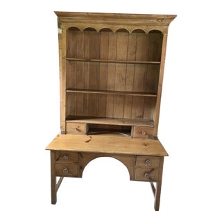 Vintage English Pine Hutch For Sale