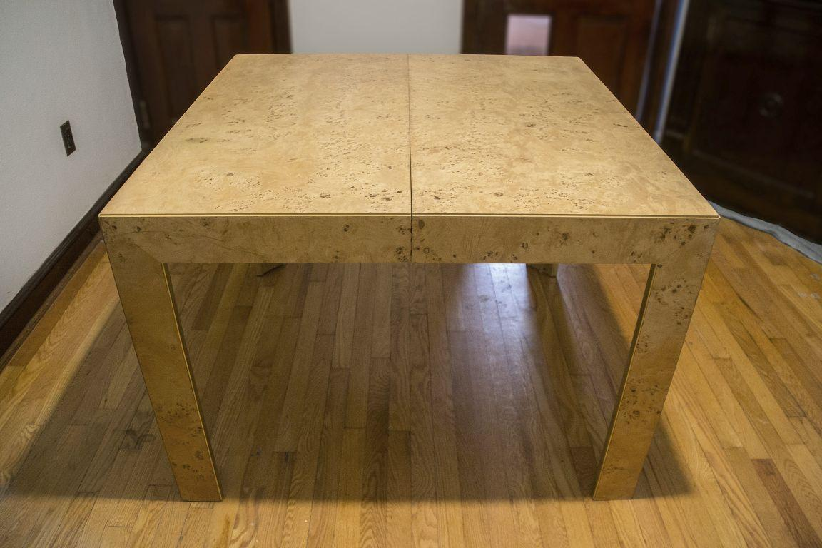 Thomasville Burl Wood Parsons Expandable Dining Table   Image 2 Of 7