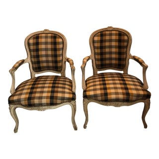 French Country Armchairs - Pair 18th Century For Sale