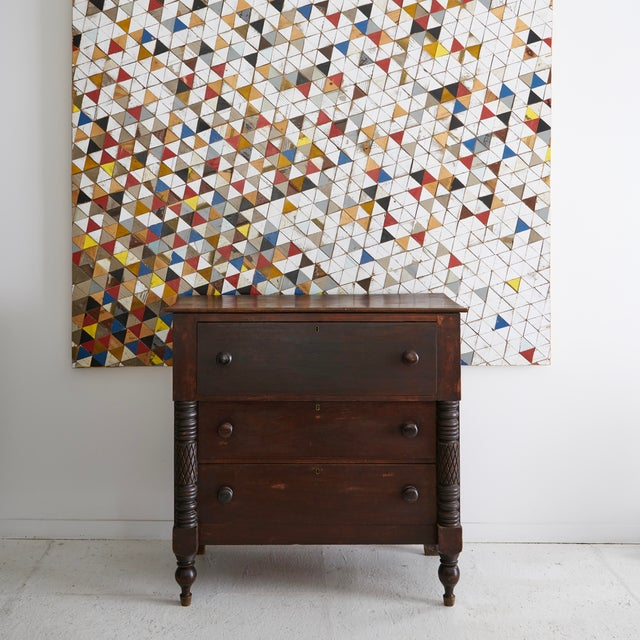 Mixed media wood and paint mosaic panel by Chicago artist Michelle Peterson-Albandoz. Michelle has created individual...