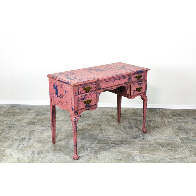 1960s French Provincial Vanity, Provincial Dressing Table, Shabby Chic Vanity Desk, Pink Vanity, Mid Century Vanity Desk, Vintage Vanity For Sale - Image 5 of 12