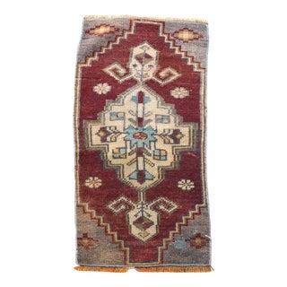 1960s Vintage Oushak Handmade Rug For Sale