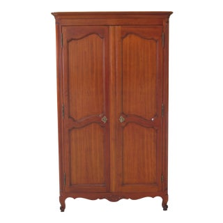1990s Vintage Kindel Classic Cherry French Louis XV Style Bedroom Armoire For Sale