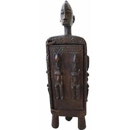 African Dogon Wood Box For Sale