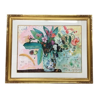 Framed French Floral Still Life Artwork For Sale