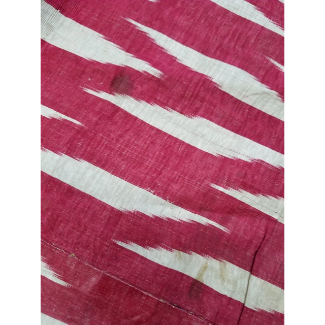 19th Century Vintage Turkish Ikat Textile For Sale - Image 11 of 12