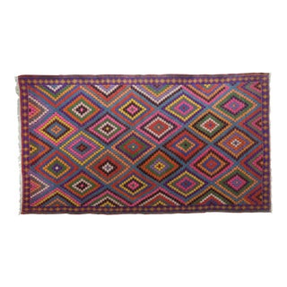 Vintage Turkish Kilim Rug-6′ × 10′9″ For Sale