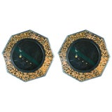Image of Bone & Tortoise Shell Octagonal Mirrors by Anthony Redmile For Sale