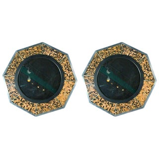 Bone & Tortoise Shell Octagonal Mirrors by Anthony Redmile For Sale