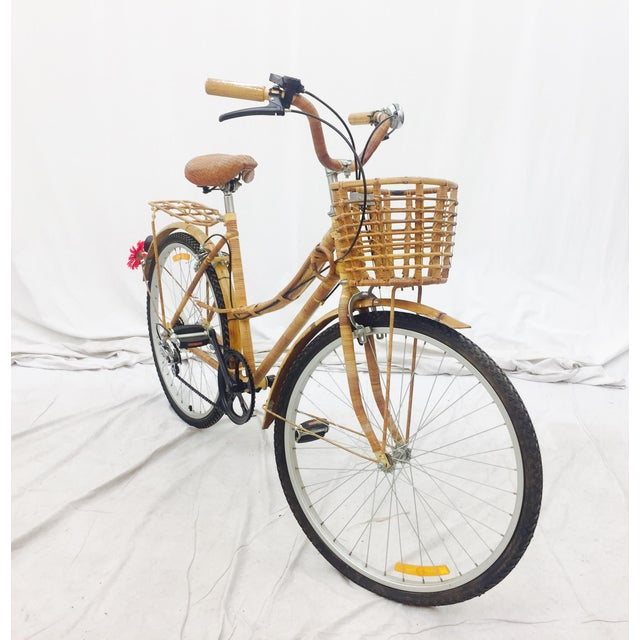 Vintage Bamboo Bicycle - Full Size - Image 3 of 11