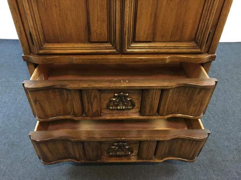 Bon Burlington House Furniture Carved Wood Armoire   Image 6 Of 9