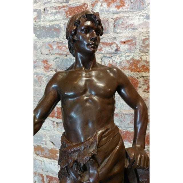 Bronze Antoine Bofill -Warrior W/Sword & Shield-19th C. French Bronze Sculpture For Sale - Image 7 of 10