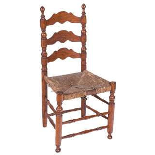 Mid 19th Century Rustic Turned Side Chair For Sale