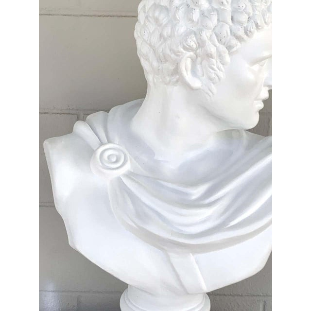 Italian White Lacquered Terracotta Bust of Apollo For Sale In Atlanta - Image 6 of 11