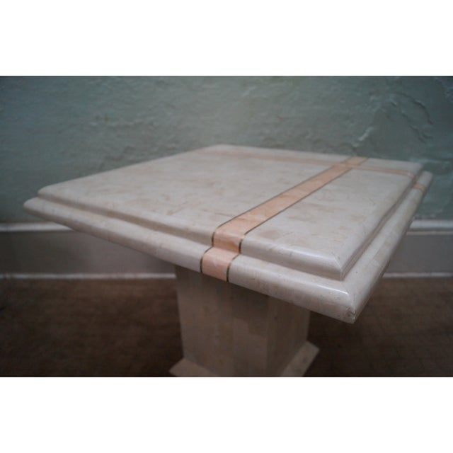 Maitland Smith Stone Marble Tables - A Pair For Sale - Image 7 of 10