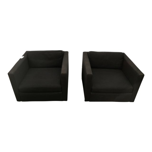 Knoll Club Chairs by Charles Pfister - A Pair For Sale