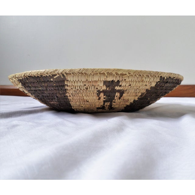 Anglo-Indian Indian Native American Kumeyaay Mission Tribal Basket For Sale - Image 3 of 10