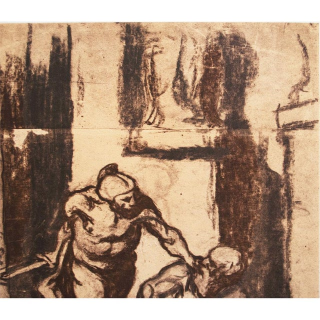 1959 Archimedes by Honoré Daumier, Vintage Hungarian Lithograph For Sale In Dallas - Image 6 of 8