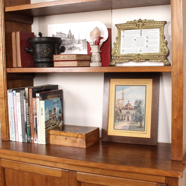 20th C. Large Italian Open Bookcase For Sale - Image 12 of 13