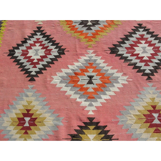 Vintage Turkish Kilim Rug - 6′5″ × 8′9″ For Sale In Houston - Image 6 of 11
