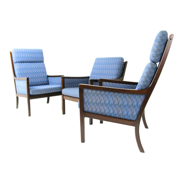 Danish Modern Lounge Chairs by Ole Wanscher for P. Jeppesen - Set of 3 - Image 1 of 8
