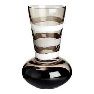 Carlo Moretti Troncosfera Vase in White, Grey and Black For Sale
