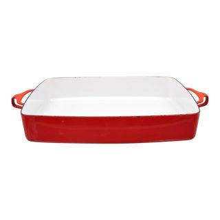 Dansk France Red Enamel Kobenstyle Medium Baking Dish For Sale