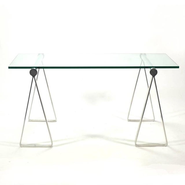 "1970s Aluminum ""Sawhorse"" Table or Desk For Sale - Image 4 of 10"