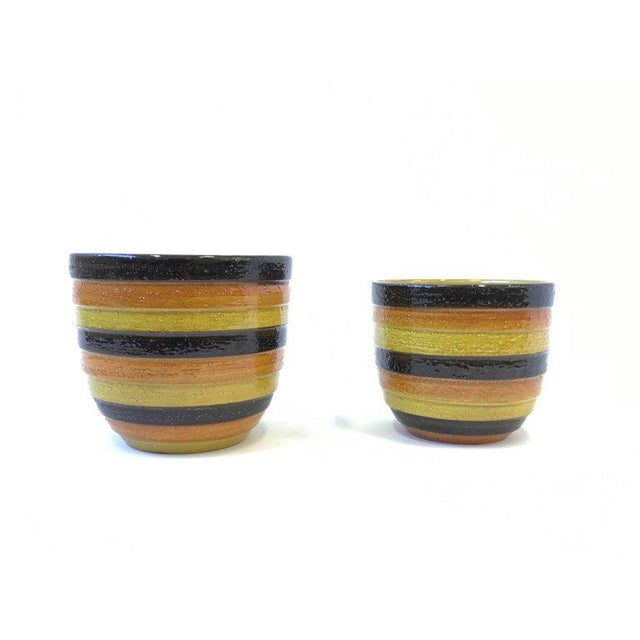 1960s Pair of Italian Ceramic Planters by Bitossi for Rosenthal For Sale - Image 5 of 7