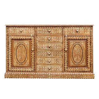 Majestic Bone Inlay Credenza For Sale