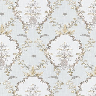 "Lewis & Wood Sample - Vallance - Earl Grey -Wide 52"" Wallpaper - Damask Pattern For Sale"