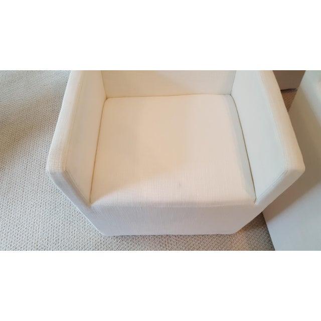 Restoration Hardware Modern New Ellison Track Arm Dining Chairs - Set of 6 For Sale - Image 9 of 11