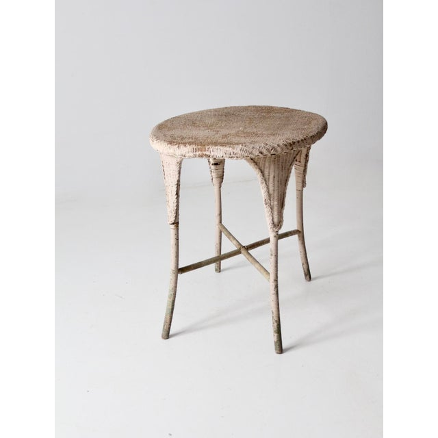 Antique Wicker Side Table For Sale - Image 6 of 13