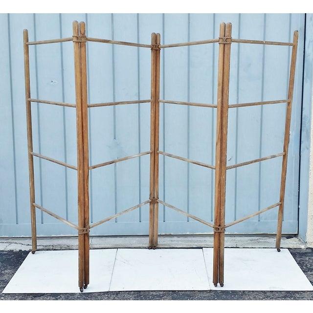 Wood & Metal Folding Rack or Screen - Image 2 of 7