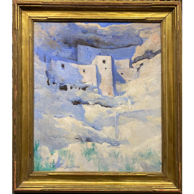1934 Oil Painting, Montezuma's Castle by Marion Boyd Allen For Sale