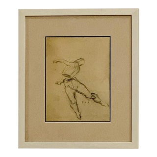 1940s Academic Drawing, Framed For Sale