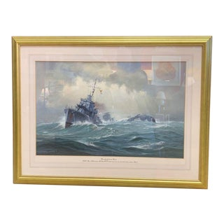 1990s David Brackman Marine Gouache Painting For Sale