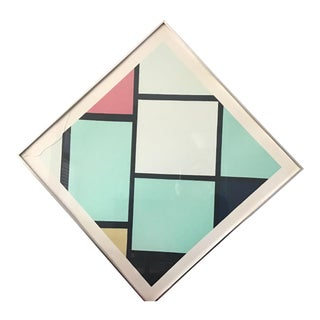 Vintage Mondrian Print - Lozenge in Red, Yellow, and Blue For Sale