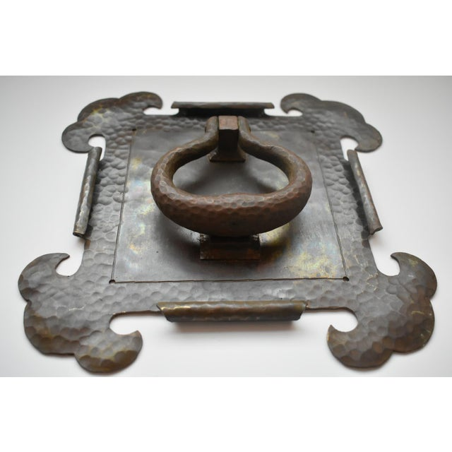 Arts & Crafts Arts and Crafts Brass Hammered Door Knocker For Sale - Image 3 of 7