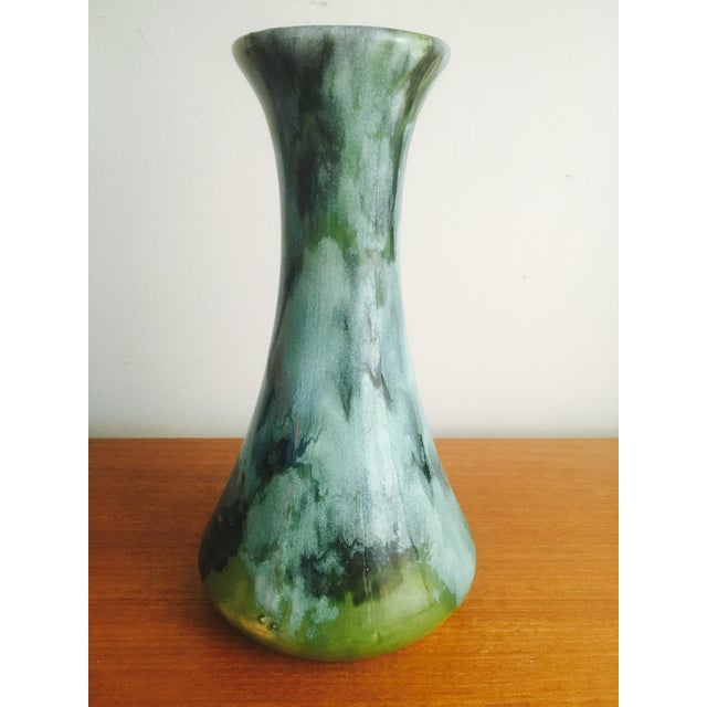 1960s Drip Glaze Art Pottery Vase - Image 7 of 7