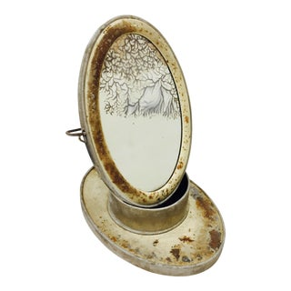Antique Folding Shaving Mirror