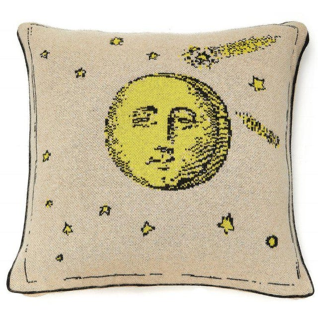 Contemporary Moon Cashmere Pillow For Sale - Image 3 of 3