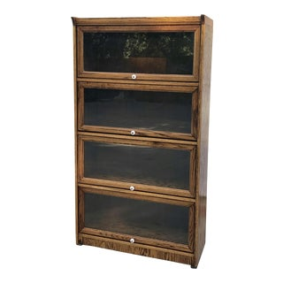Vintage Wood Barrister's Bookcase For Sale