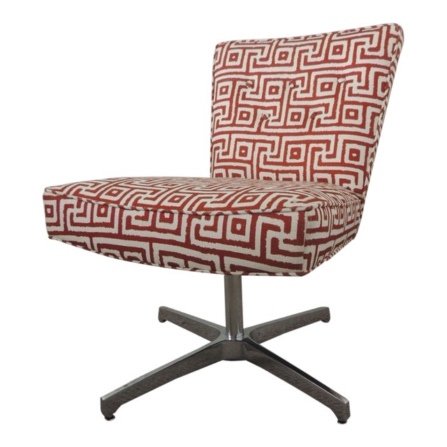 Mitchell Gold + Bob Williams Red and Natural Accent Chair For Sale