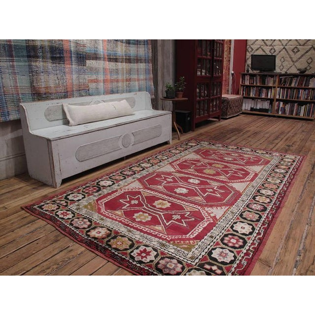 A handsome old tribal rug from Northwestern Turkey, around the town of Canakkale on the Dardanelles. A good example of...