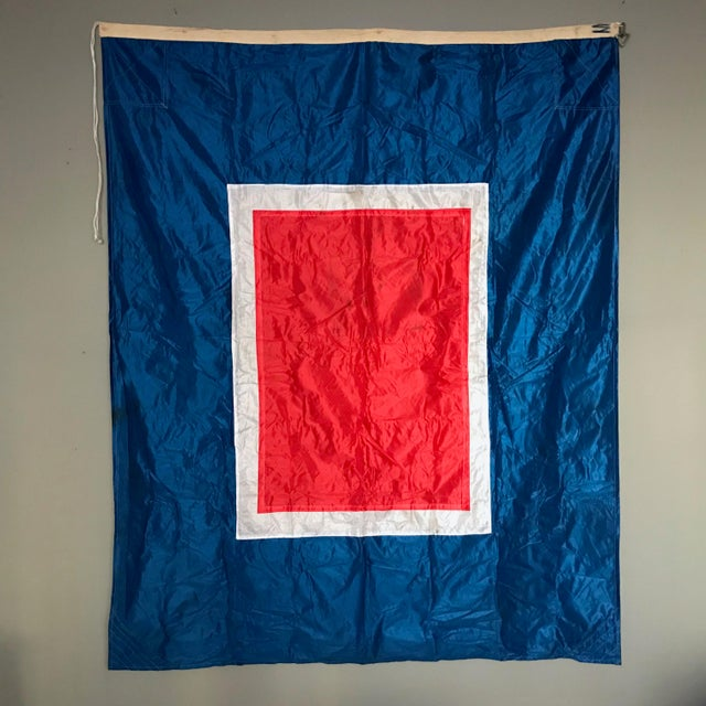 "Vintage ""W"" Nautical Flag For Sale - Image 5 of 5"
