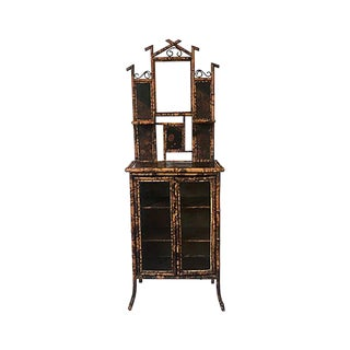 19th-C. English Bamboo Chinoisere Eterge For Sale