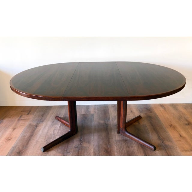 Gudme Mobelfabric Danish MCM Rosewood Dining Table With 2 Leaves For Sale - Image 13 of 13